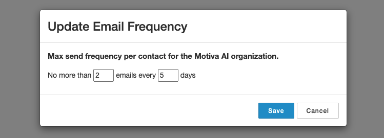 Frequency Management Settings
