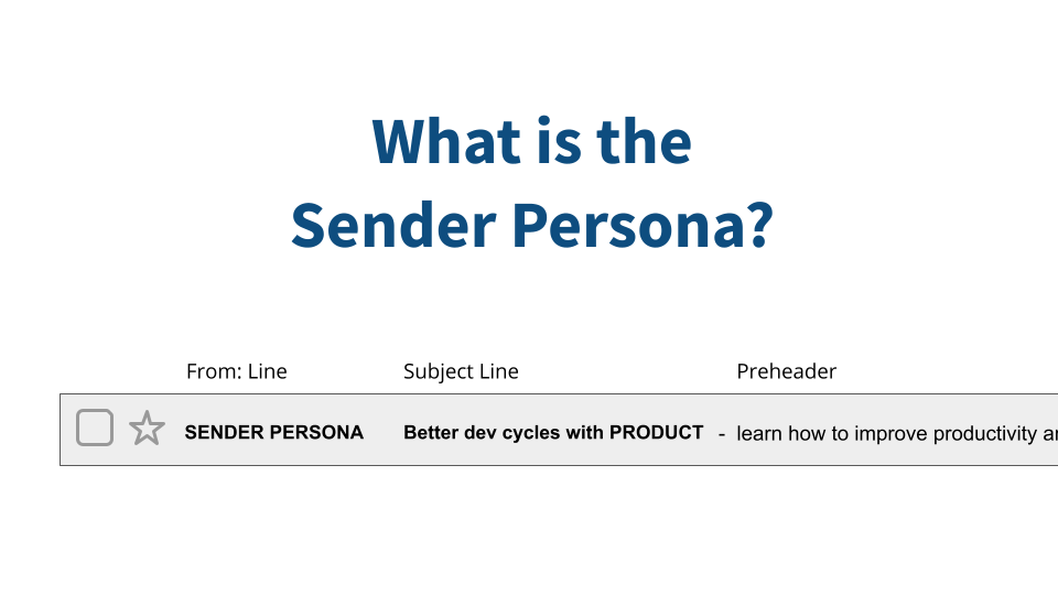 What is the Sender Persona